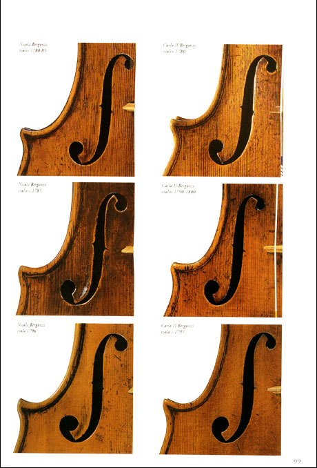 Violins and violas details